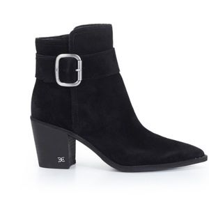 New Sam Edelman Leonia Ankle Buckle Bootie Black 6